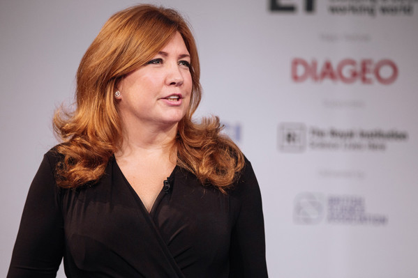 Pippa Malmgren speaking at the Huxley Summit